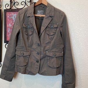 EUC MAKE+MODEL Olive-Taupe 4 pckt Button-Up Jacket